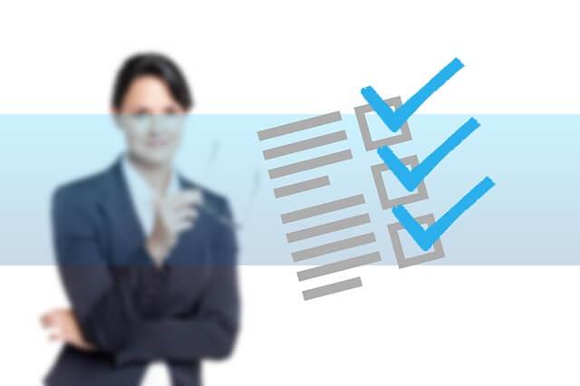 チェックリストを使うビジネス